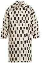 Junya Watanabe Rectangle-print point-collar cotton coat