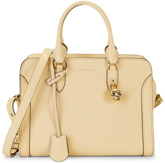 Alexander McQueen Small Padlock Leather Shoulder Bag