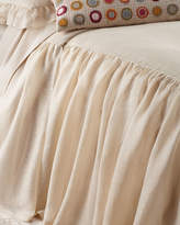Pine Cone Hill Queen Savannah Tea Stain Skirted Coverlet