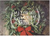 Jada Venia 4-236 Christmas Wreath Merry Bright Photo Light Box Insert