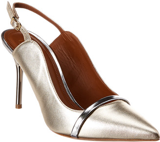 Malone Souliers Marion 85 Leather Slingback Pump