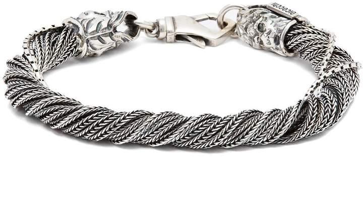 Emanuele Bicocchi Wrapped sterling-silver bracelet