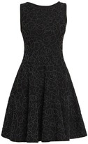 Alaia Sleeveless Embellished Wool Dress