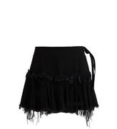 Marques Almeida MARQUES'ALMEIDA Frayed-edge ruffled-hem denim mini skirt