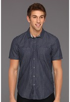 Calvin Klein Jeans Denim Polka Dot S/S Shirt (Dark Wash) - Apparel