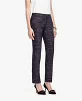 Ann Taylor Tall Crosshatch Tweed Ankle Pants