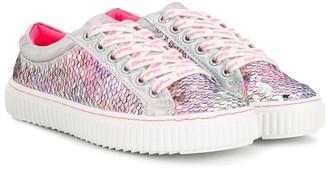 Billieblush Metallic Low-Top Sneakers