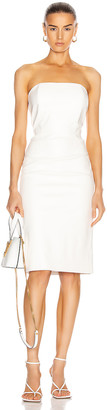 retrofete for FWRD Daniella Faux Leather Midi Dress in White | FWRD
