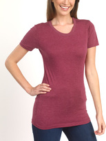Cranberry Scoop Neck Top