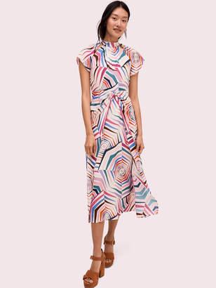 Kate Spade Geobrella Silk Midi Dress