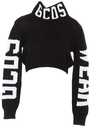 GCDS Logo Cropped Turtleneck Sweater