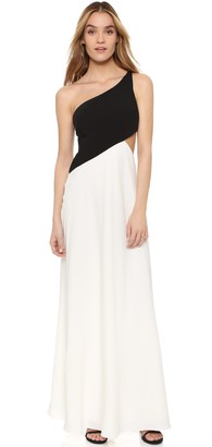 Jill Stuart Jill Women's One Shoulder 2 Ply Crepe Gown