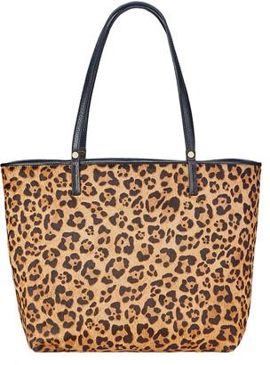 GiGi New York Tori Leopard-Print Tote Bag