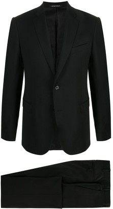 Emporio Armani Single-Breasted Wool Suit Jacket
