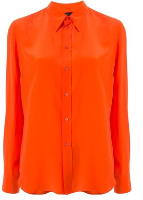 Ralph Lauren Collection Silk Pointed Collar Shirt