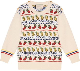 Gucci Fruit Intarsia Jumper