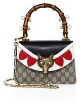 Gucci GG & Leather Top Handle Bag