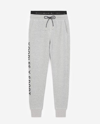 The Kooples Flecked grey joggers with logo side trim
