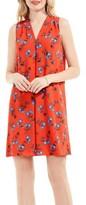 Vince Camuto Women's Tropic Spritz Invert Pleat A-Line Dress