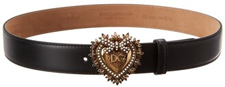 Dolce & Gabbana Devotion Heart Adjustable Leather Belt