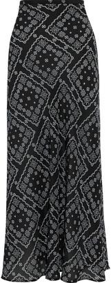 Rixo Kelly Printed Silk Crepe De Chine Maxi Skirt