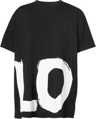 Burberry love print oversized T-shirt