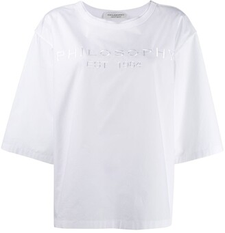 Philosophy di Lorenzo Serafini oversized logo T-shirt