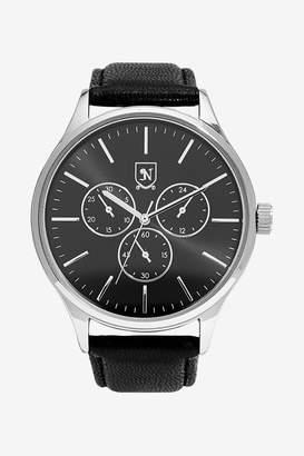Next Mens Black Strap Watch - Black