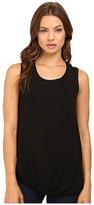 Heather Asymmetrical Shirred Tank Top