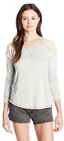 Jolt Women's Lace Back Long Sleeve Tee