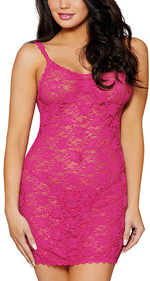 Dreamgirl Women's Chemises MAG - Magenta Floral Lace Chemise & G-String - Women, Juniors & Plus