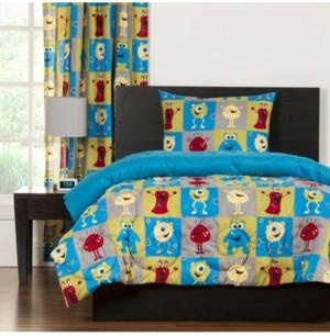 Crayola Monster Friends 6 Piece Full Duvet Set Bedding