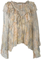 Mes Demoiselles palms print pleated blouse - women - Viscose - 36