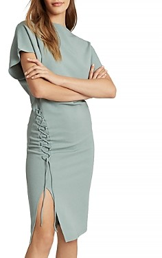 Reiss Theodora Lace Up Fitted Dress