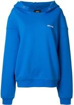 we11done logo printed hoodie