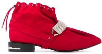 Toga Pulla drawstring ankle boots