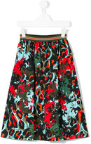 Young Versace - printed skirt - kids - Cotton/Spandex/Elastane - 4 yrs