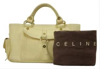 Celine Boogie Yellow Leather Handbags