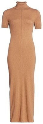 STAUD Alpine Knit Midi Sheath Dress
