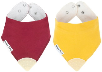 Bazzle Baby Solid Bandana Bibs - Pack of 2