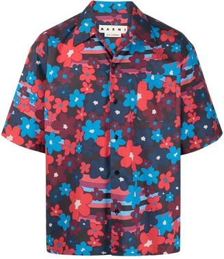 Marni Floral-Print Buttoned Shirt