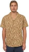 rhythm Santiago Ss Mens Shirt Brown