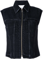3.1 Phillip Lim denim zipped waistcoat - women - Cotton - 0