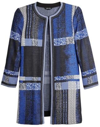 Misook Artisan Plaid Jacquard Knit Jacket