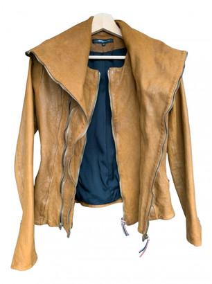 Jerome Dreyfuss Camel Leather Jackets