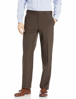 Palm Beach Men's Expander Plain Dress Pant Washable