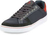Original Penguin Rave Nylon Low-Top Sneaker, Dark Shadow