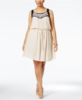 Love Squared Trendy Plus Size Embroidered Racerback Fit & Flare Dress