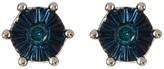 Savvy Cie Blue Diamond Stud Earrings - 0.02 ctw