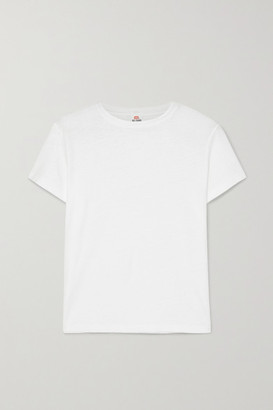RE/DONE Classic Cotton-jersey T-shirt - White